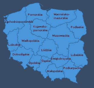województwa w Polsce - podział administracyjny